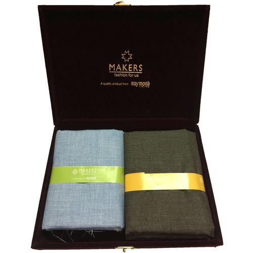 Raymond Cotton Viscose Blend Solid Shirt & Trouser Fabric(Unstitched)