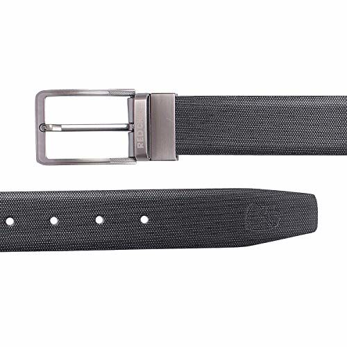 Red Chief Black/Brown Leather Reversible Formal Belt For Men (A80252 117) (36)
