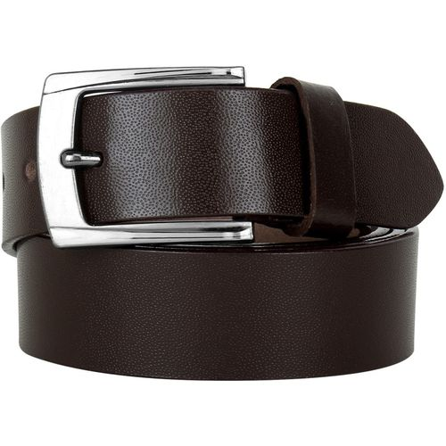 Azibo Men Casual, Party, Formal, Evening Brown Genuine Leather Belt