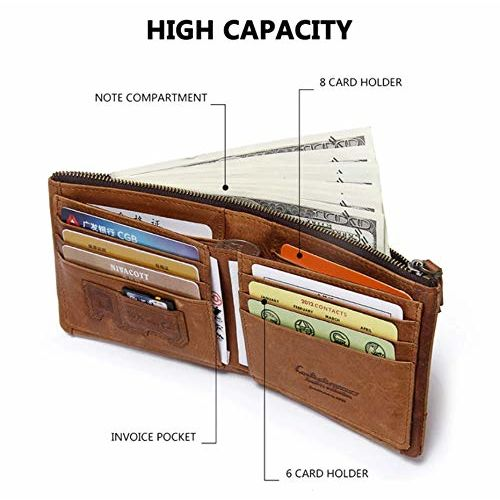 Contacts Beige Men's Leather RFID Blocking Wallet