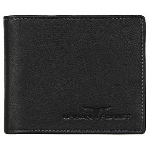 Urban Forest Black Leather Bi Fold Wallet