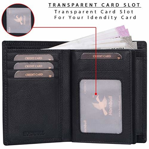Hornbull Albert Black Men's Genuin Leather RFID Blocking Wallet