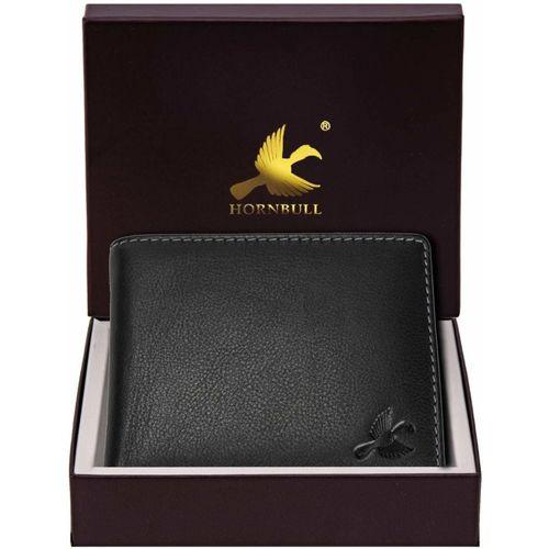 Hornbull Men Black Genuine Leather Wallet(4 Card Slots)