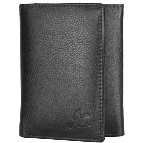 Hornbull Men Black Genuine Leather Wallet(5 Card Slots)