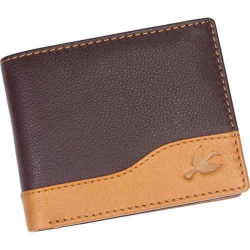 Hornbull Men Casual Brown, Tan Genuine Leather Wallet(7 Card Slots)
