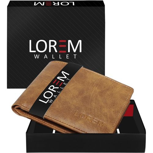 LOREM Men Brown Artificial Leather Wallet(6 Card Slots)