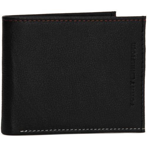 Tommy Hilfiger Men Casual Black Genuine Leather Wallet(10 Card Slots)