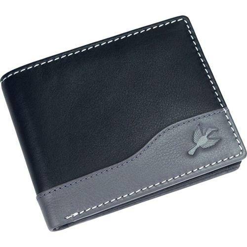 Hornbull Men Casual Grey, Black Genuine Leather Wallet(8 Card Slots)