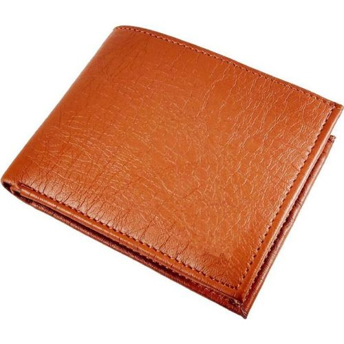 Gskaa Men Casual Tan Genuine Leather Wallet(10 Card Slots)