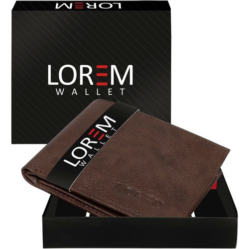 LOREM Men Maroon Artificial Leather Wallet(6 Card Slots)