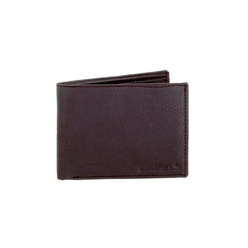 Laurels brown leatherette wallet