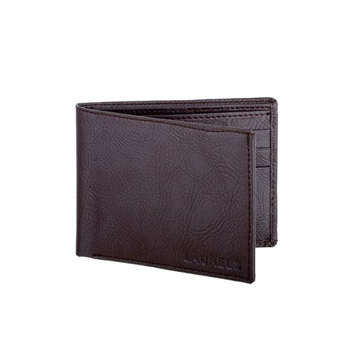 Laurels brown leatherette wallet