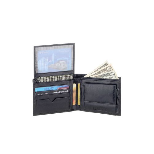 Laurels black leather wallet