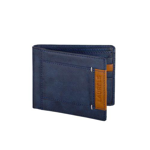 Laurels blue leatherette wallet