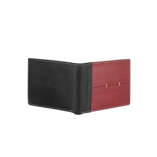 Laurels red leather wallet