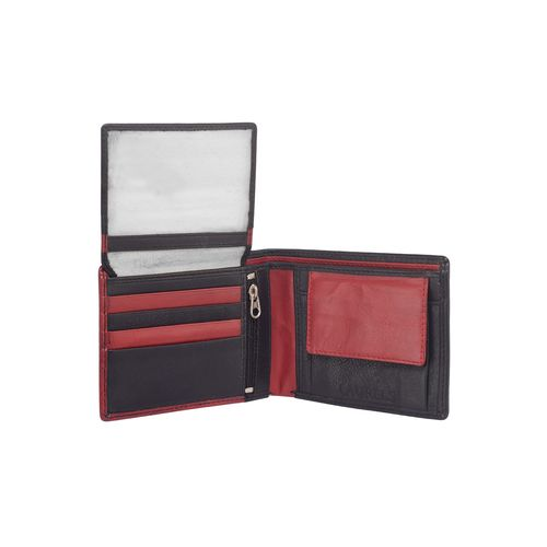 Laurels red leather wallet