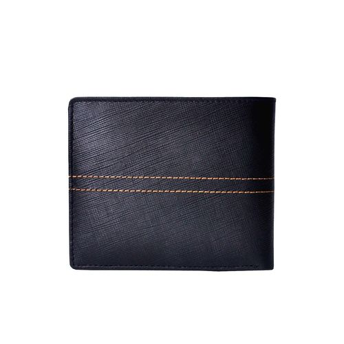 Tamanna black and tan leather wallet