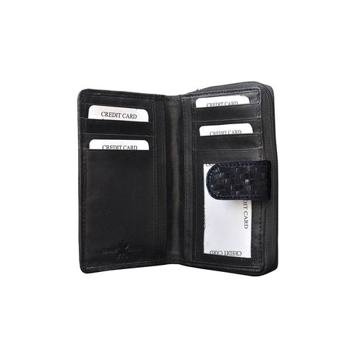 Tamanna black leather wallet