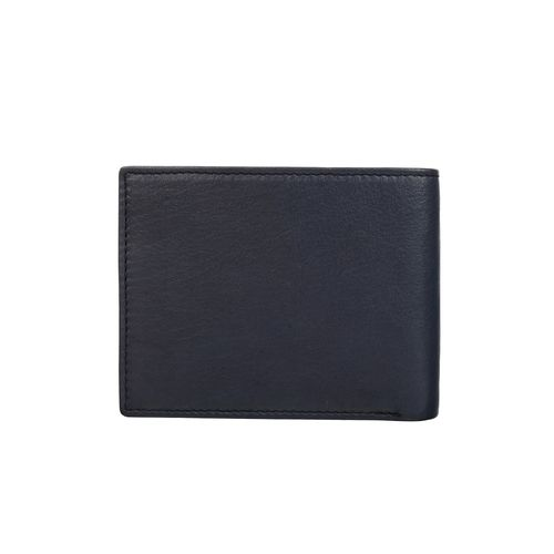 ECHT navy blue leather wallet