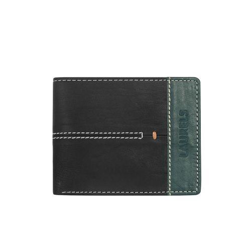 Laurels green leather wallet
