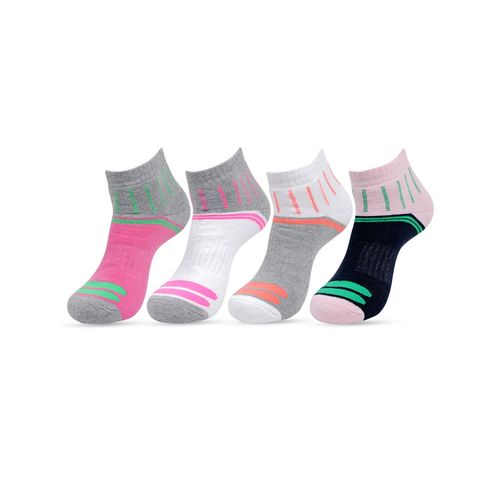 Bonjour multi colored cotton blend sock