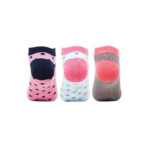 Bonjour multi colored cotton ankle length socks