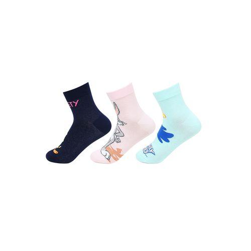 Bonjour multi colored cotton ankle length socks
