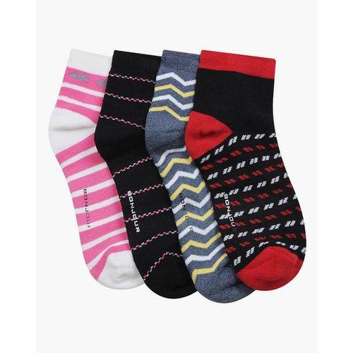 BONJOUR Pack of 4 Knit Ankle-Length Socks