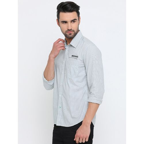 Flyrs Club green cotton casual shirt