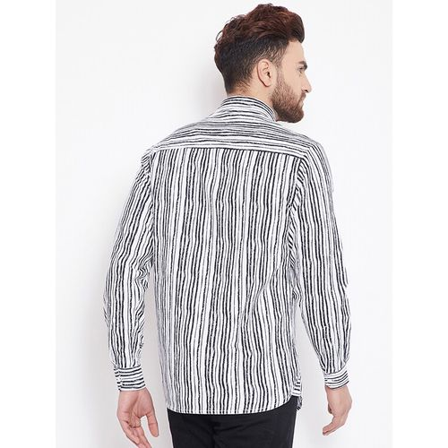 Canary London white striped casual shirt