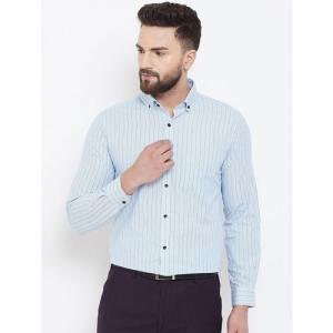 Canary London light blue striped formal shirt
