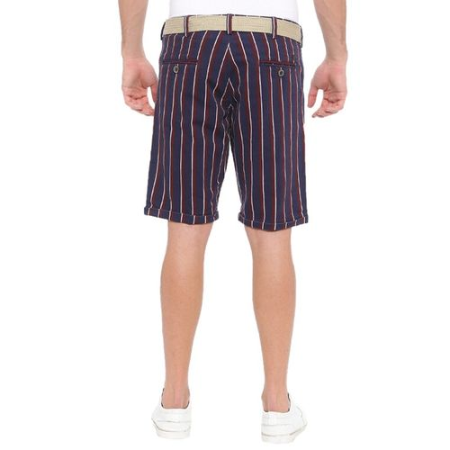 WITH navy blue cotton shorts
