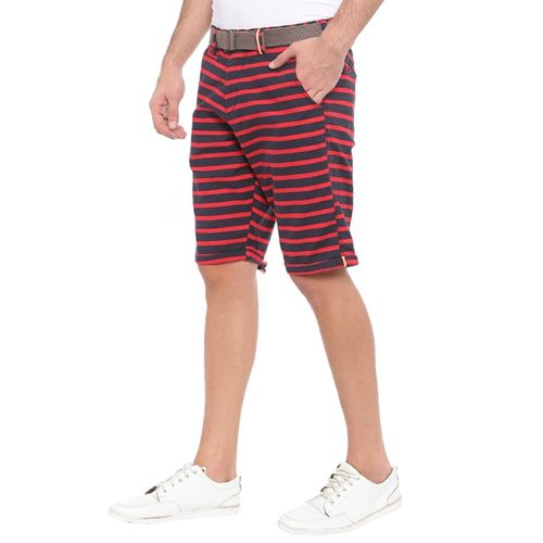 WITH red cotton shorts