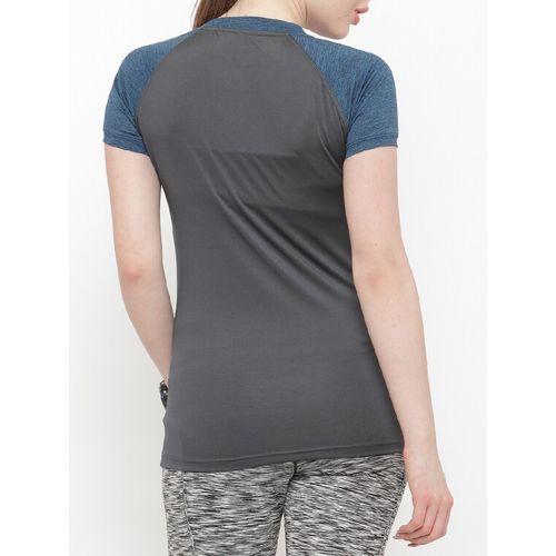 N-Gal grey solid v neck tee