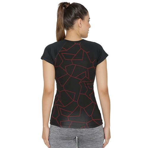 N-Gal raglan sleeved abstract tee