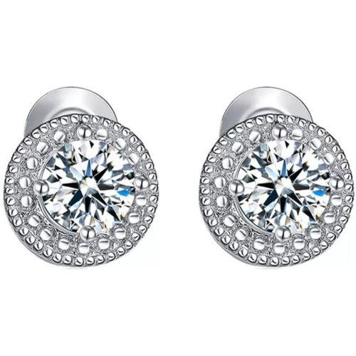 MYKI Delightful Zircon Silver Stud Earring For Women & Girls Swarovski Zirconia Sterling Silver Stud Earring