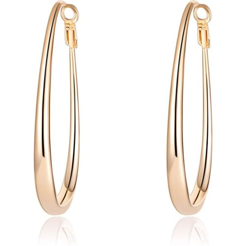 Jewels Galaxy Luxuria Gold Copper Alloy Hoop Earring