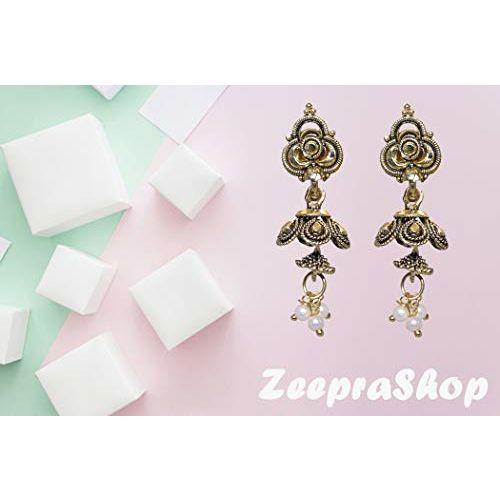Shree New Latest Design Golden Color Earning for Women and Girls- 5112