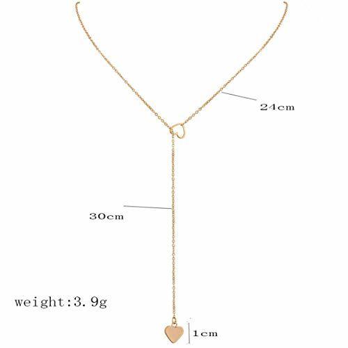 Sorella'z Women's Golden Metal Double Heart Chain Necklace