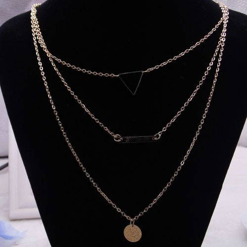 Jewels Galaxy Trendy Layered Fashion Gold-plated Plated Alloy Necklace