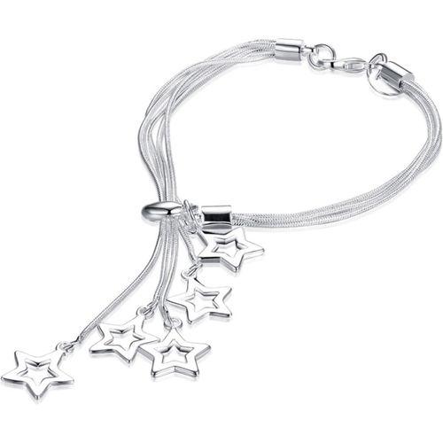 Yellow Chimes Metal Silver Charm Bracelet