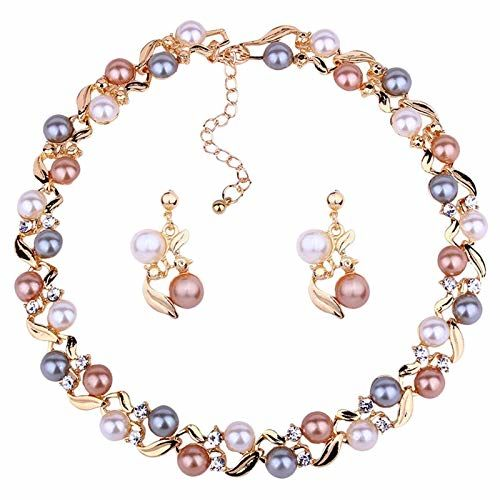 YouBella Necklace Set Jewellery Set for Women (Multi-Colour) (YBNK_5659)