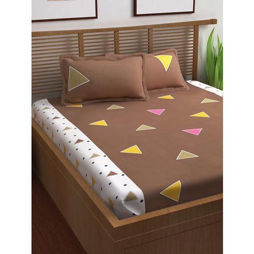 Story@Home 100% cotton double bedsheet with 2 pillow covers
