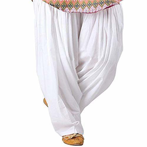 Pal Bro's Store Indian Women's Semi Patiala Salwar for Girls - (Free Size ; White)