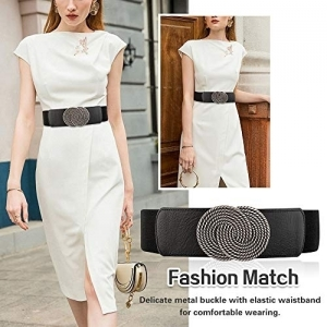 Futurekart Black Stylish Elastic Embellished Waist Belt