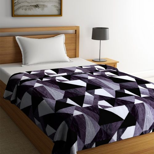 PORTICO NEW YORK Solid Single Coral Blanket(Polyester, Black)