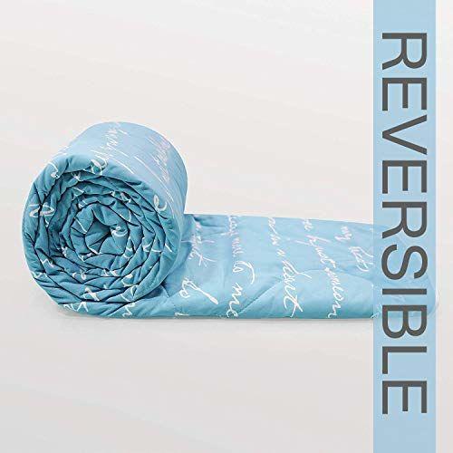Divine Casa Luxor Abstract Microfibre Single Comforter - Blue (110 GSM)