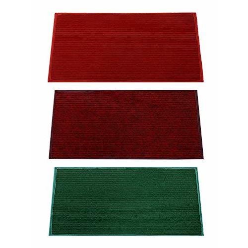 Kuber Industries Microfiber Anti Slip 3 Pieces Door Mat 14