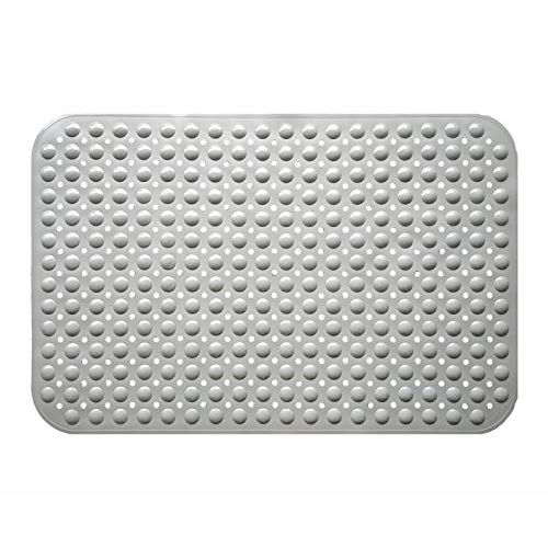 Lifekrafts Experia PVC Shower Bath Mats with Soft Bubbles (90x58 cm, Grey)