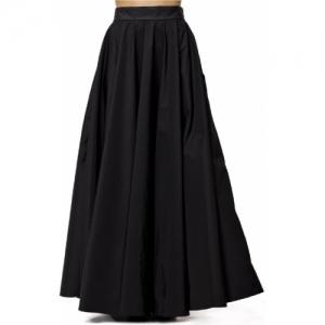 Neha Keshiv Black Solid Flared Skirt